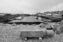 Harbor at Lossiemouth. Scenic harbor at Lossiemouth in Scotland royalty free stock photo
