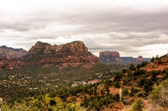 Scenic HDR Sedona, Arizona. Scenic HDR landscape of Sedona, Arizona. Bell rock in distant background Royalty Free Stock Photo