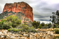 Scenic HDR Sedona, Arizona. Scenic HDR landscape of Bell Rock in Sedona, Arizona Royalty Free Stock Image