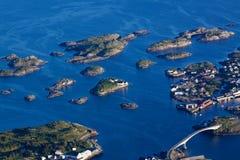Scenic Henningsvaer on Lofoten Royalty Free Stock Photography