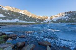 Scenic High Mountain Lake stock image