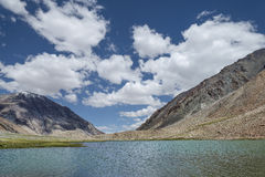 Scenic high mountains lake. In Indian Himalaya Stock Photography