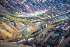 Scenic highland area of Landmannalaugar, Iceland Stock Photography