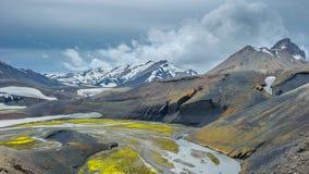 Scenic highland area of Landmannalaugar, Iceland Stock Images
