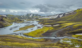 Scenic highland area of Landmannalaugar, Iceland Royalty Free Stock Photos