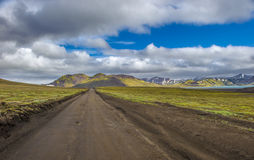 Scenic highland area of Landmannalaugar, Iceland Stock Images