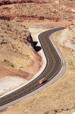 Scenic Highway. Winding road near Arches National Park Stock Photos