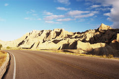 Scenic Highway. Highway through the Badlands National Park Royalty Free Stock Photo