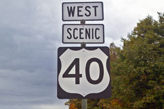 Scenic highway 40 Stock Images