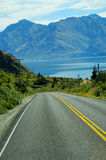 A scenic highway. In south island New Zealand Royalty Free Stock Photos