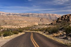 Scenic Highway in Big Bend National Park Royalty Free Stock Photos