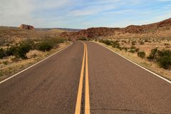 Scenic Highway in Big Bend National Park Stock Image