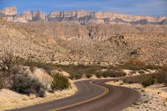 Scenic Highway in Big Bend National Park Stock Photos