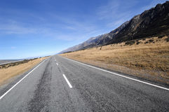 Scenic highway, New Zealand Royalty Free Stock Photography