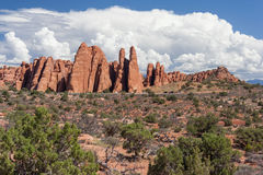 Scenic highway between Petrified Dunes and Fiery Furnace at Arches National Park Utah USA. Scenic highway between Petrified Dunes and Fiery Furnace at Arches Royalty Free Stock Photography