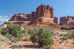 Scenic highway between Petrified Dunes and Fiery Furnace at Arches National Park Utah USA Royalty Free Stock Images
