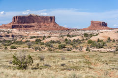 Scenic highway between Petrified Dunes and Fiery Furnace at Arches National Park Utah USA Royalty Free Stock Photos