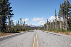 Scenic highway to Sisters Oregon. Scenic Highway to Three Sisters Mountains Oregon Royalty Free Stock Photos