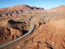 Scenic highway in Utah. Royalty Free Stock Photos