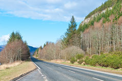 A scenic highway Stock Images