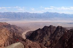Scenic hike in Eilat Mountains. Royalty Free Stock Images