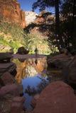 Scenic hikers Stock Photo