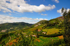 Scenic hill top in India stock image