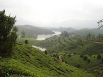 Scenic hills and river Stock Image