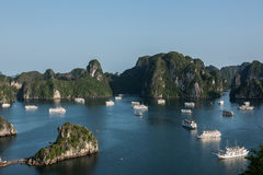 Scenic Hillscape of Ha Long Bay Stock Images
