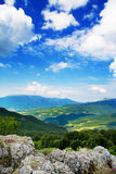 Scenic hillside landscape Stock Photos