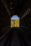 Scenic Historic Covered Bridge - Abandoned Railroad - Vermont Royalty Free Stock Photos