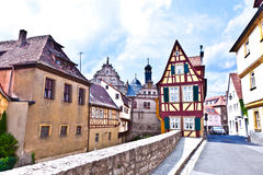 Scenic historic houses Stock Photography