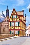 Scenic historic houses in Marktbreit Stock Photography