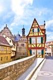 Scenic historic houses in Marktbreit Royalty Free Stock Images