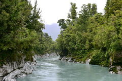 Scenic Hokitika Gorge with its signature turquoise river in New Zealand Stock Image