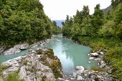 Scenic Hokitika Gorge with its signature turquoise river in New Zealand Royalty Free Stock Image