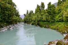 Scenic Hokitika Gorge with its signature turquoise river in New Zealand Stock Photography