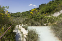 The scenic hot spring pool of Bagno Vignoni Royalty Free Stock Images