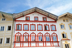 Scenic houses in Bad Toelz, Bavaria Royalty Free Stock Photo