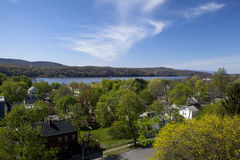 The Scenic Hudson Valley. The beautiful Hudson Valley in Spring Royalty Free Stock Image