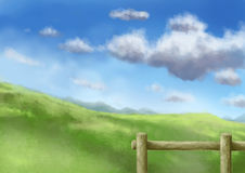 Scenic illustration 05 Stock Image