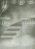 Scenic illustration 16. Cartoon scene illustration, theater scenery Royalty Free Stock Photos