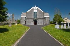 Scenic irish ancient church abbey ruins landscape Royalty Free Stock Photo