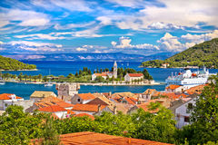 Scenic island of Vis waterfront Stock Images