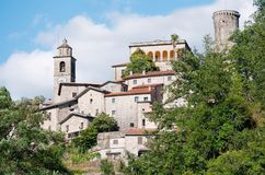 Scenic Italy - Tuscan town (Bagnone) Stock Photo