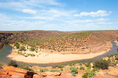 Scenic Kalbarri Gorge Australia Royalty Free Stock Photos
