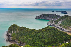 Scenic lagoon on the island of Cat Ba Royalty Free Stock Photography