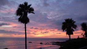 Scenic Laguna Beach at sunset Stock Photography