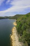 Scenic lake 3. A horizontal view of a scenic lake featuring beautiful blue water and shoreline Stock Photos