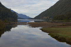 Scenic lake along the Carretera Austral stock photography